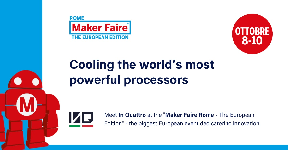 IN QUATTRO Launches its Advanced Two-Phase Cooling Technology at MAKER FAIRE